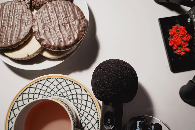 Detail von der Kunst Podcast Aufnahme
