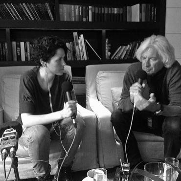 Kreativer Input von Visionär Günther Aloys im Kunst Podcast Kanal Fatal mit Nina Gospodin