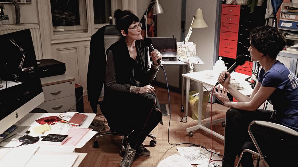 Künstlergespräch mit Renate Bertlmann und Nina Gospodin in Wien